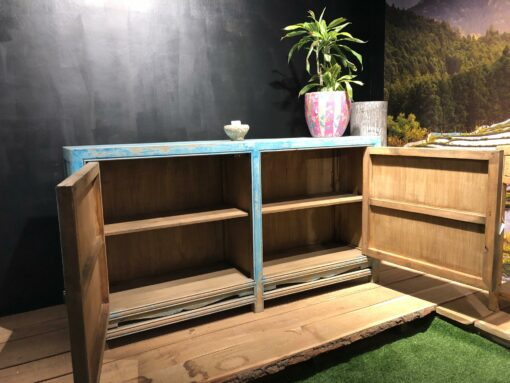 Sideboard Hellblau und Natur
