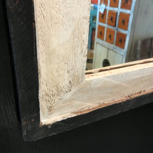 Holzspiegel schwarz weiß