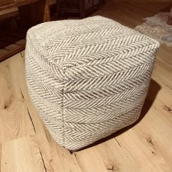 """Pouf """"Stave"""" Taupe"""
