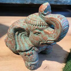 Figur Elefant Bronze Türkis