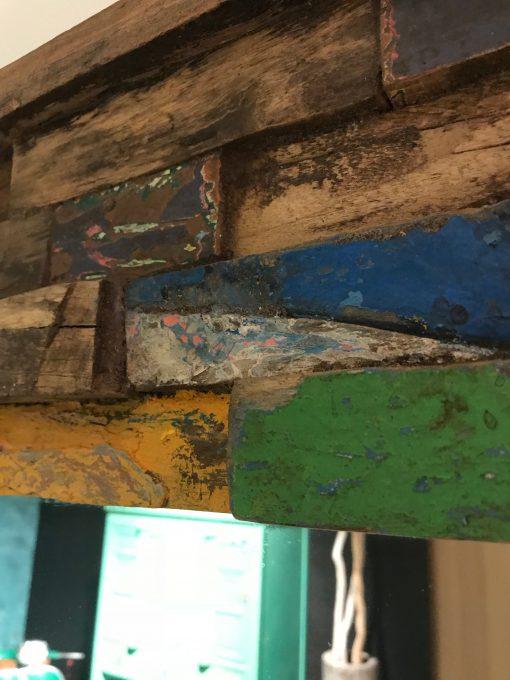 Großer Holzspiegel Bunt