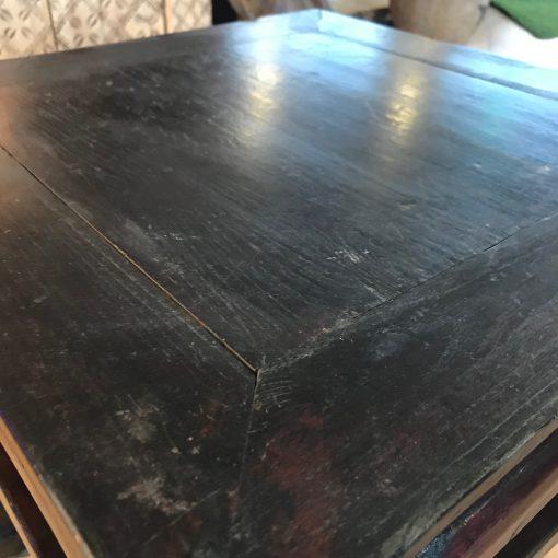 Couchtisch Holz Rot-Schwarz