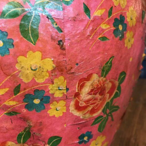 Papiertopf Rosa mit Blumen (M)