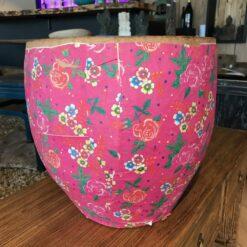 Papiertopf Pink mit Blumenmuster (L)